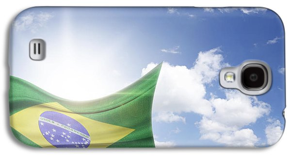 Outside Photographs Galaxy S4 Cases - Brazilian flag Galaxy S4 Case by Les Cunliffe