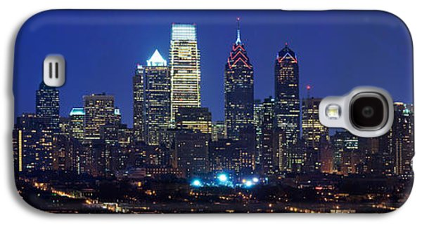 Business Galaxy S4 Cases - Buildings Lit Up At Night In A City Galaxy S4 Case by Panoramic Images