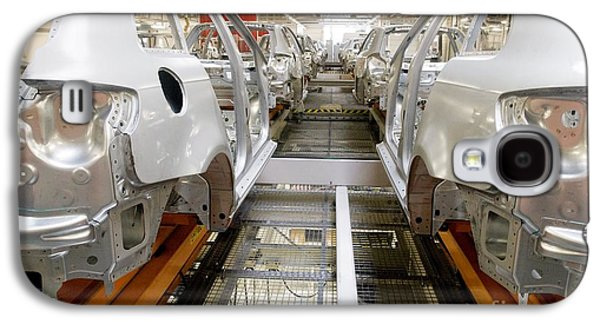 Production Line Galaxy S4 Cases - Car Factory Production Line Galaxy S4 Case by Arno Massee