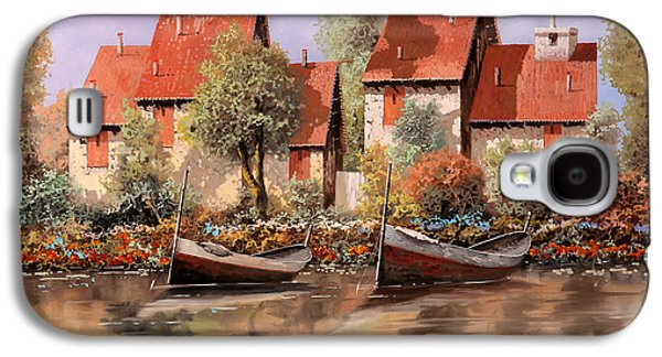 Lake House Galaxy S4 Cases - 5 Case E 2 Barche Galaxy S4 Case by Guido Borelli