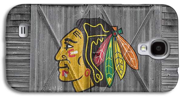 Hockey Photographs Galaxy S4 Cases - Chicago Blackhawks Galaxy S4 Case by Joe Hamilton