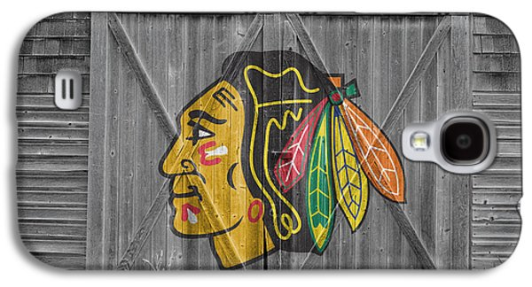Chicago Blackhawks Galaxy S4 Case by Joe Hamilton