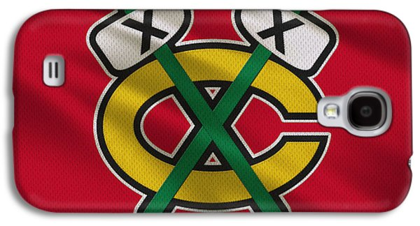 Recently Sold -  - Sports Photographs Galaxy S4 Cases - Chicago Blackhawks Uniform Galaxy S4 Case by Joe Hamilton