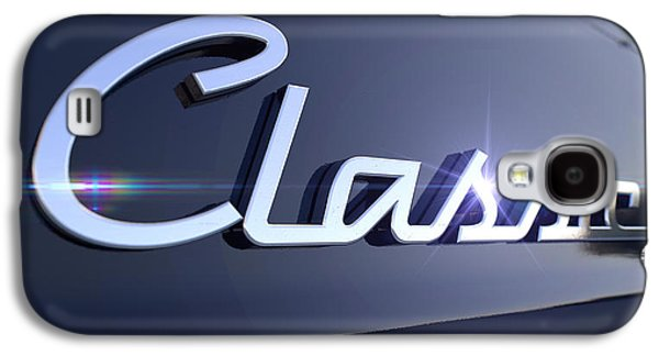 Shield Digital Galaxy S4 Cases - Classic Chrome Car Emblem Galaxy S4 Case by Allan Swart