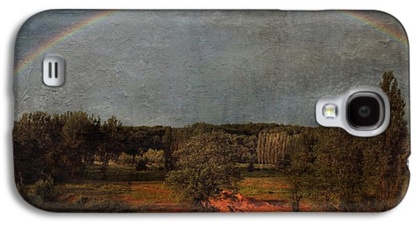 Flora Mixed Media Galaxy S4 Cases - Country Life Galaxy S4 Case by Heike Hultsch