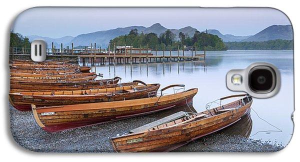 Boats In Reflecting Water Galaxy S4 Cases - Derwent Water Galaxy S4 Case by Sebastian Wasek