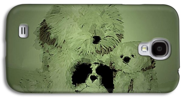 Dogs Ceramics Galaxy S4 Cases - Doggys Galaxy S4 Case by Michael James Greene