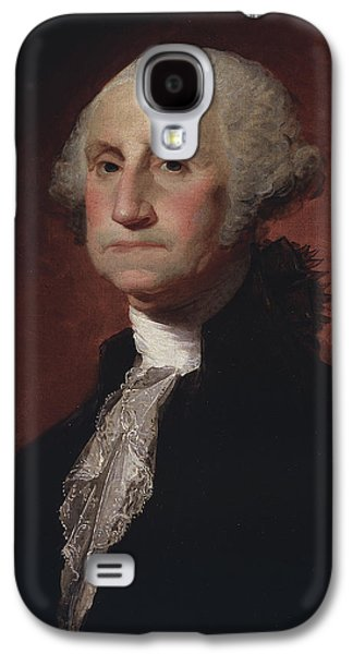 Politics Paintings Galaxy S4 Cases - George Washington Galaxy S4 Case by Gilbert Stuart