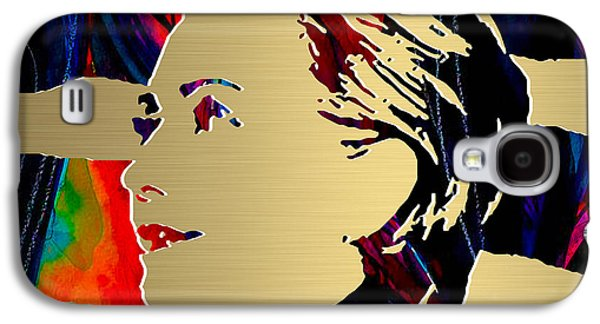 Hillary Clinton Galaxy S4 Cases - Hillary Clinton Gold Series Galaxy S4 Case by Marvin Blaine