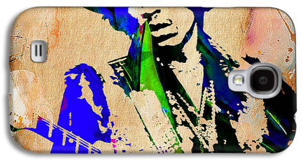 Jimi Hendrix Galaxy S4 Cases - Jimi Hendrix Painting Galaxy S4 Case by Marvin Blaine
