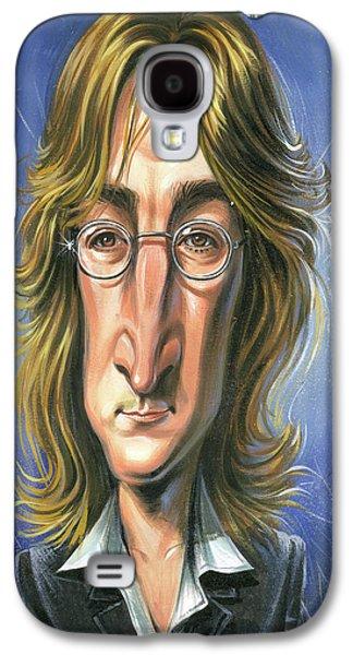 John Lennon Paintings Galaxy S4 Cases - John Lennon Galaxy S4 Case by Art