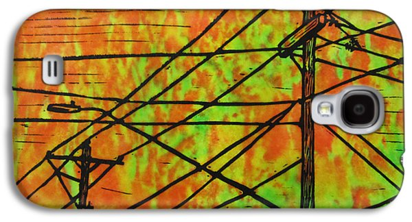 Electricity Drawings Galaxy S4 Cases - Lines Galaxy S4 Case by William Cauthern