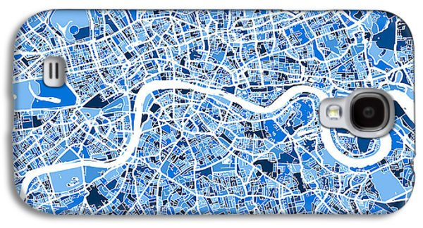 Great Britain Galaxy S4 Cases - London England Street Map Galaxy S4 Case by Michael Tompsett