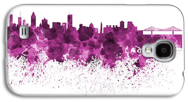 Montreal Paintings Galaxy S4 Cases - Montreal skyline in watercolor on white background Galaxy S4 Case by Pablo Romero