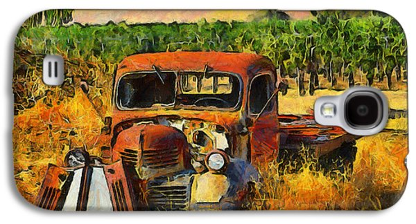 Old Western Photos Galaxy S4 Cases - Retired Relics Galaxy S4 Case by Barbara Snyder