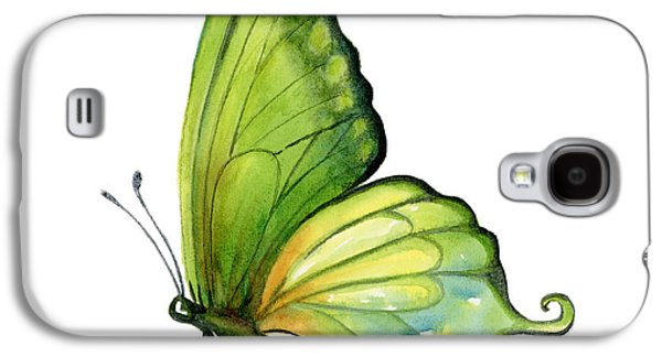 Moth Paintings Galaxy S4 Cases - 5 Sap Green Butterfly Galaxy S4 Case by Amy Kirkpatrick