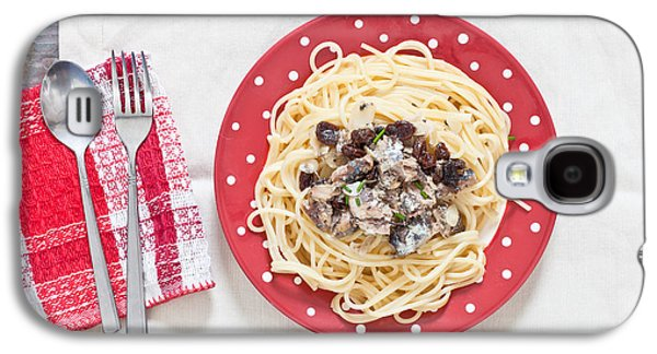 Spaghetti Galaxy S4 Cases - Sardines and spaghetti Galaxy S4 Case by Tom Gowanlock