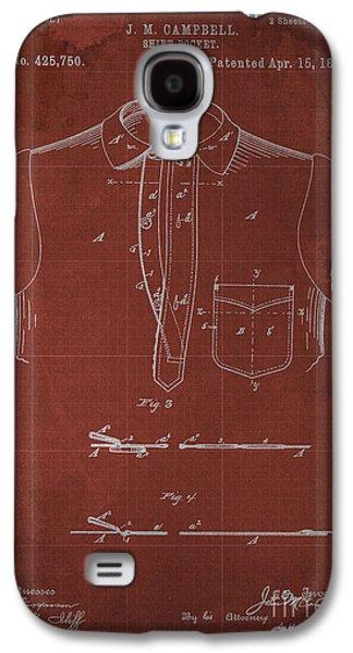 Shirt Digital Art Galaxy S4 Cases - SHIRT POCKET Blueprint Patent Galaxy S4 Case by Pablo Franchi