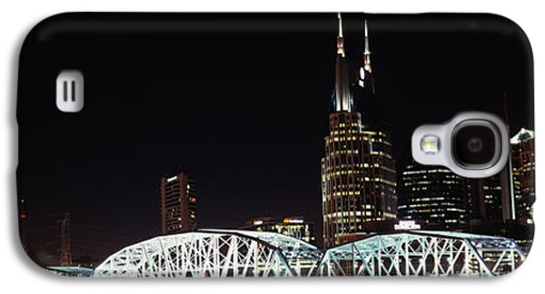 Skylines And Shelby Street Bridge Galaxy S4 Case by Panoramic Images