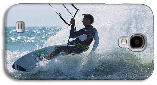 Kiteboarding Galaxy S4 Cases - Spain, Andalusia, Cadiz, Costa De La Galaxy S4 Case by Ben Welsh