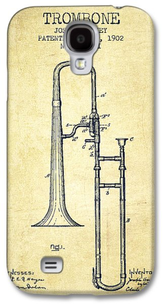 Trombone Patent From 1902 - Vintage Galaxy S4 Case by Aged Pixel