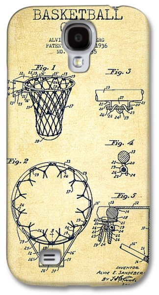 Hoop Galaxy S4 Cases - Vintage Basketball Goal patent from 1936 Galaxy S4 Case by Aged Pixel