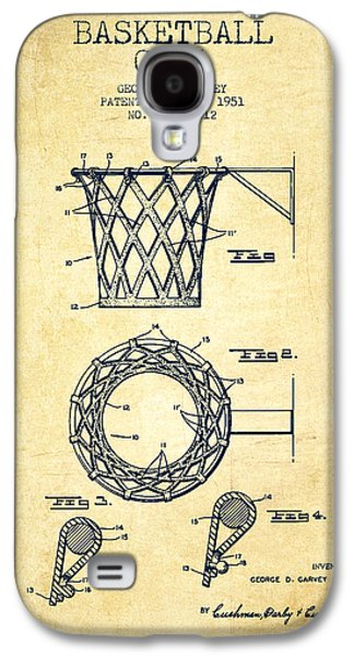 Vintage Basketball Goal Patent From 1951 Galaxy S4 Case by Aged Pixel