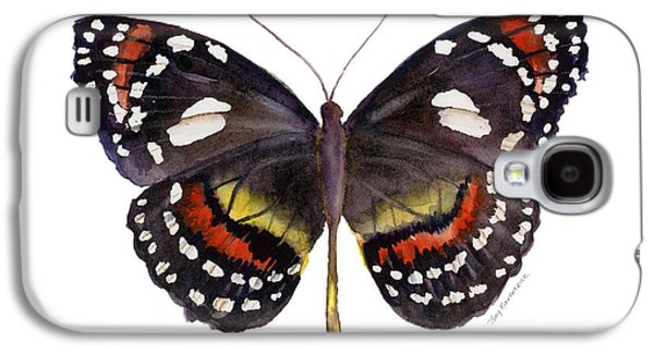 Moth Paintings Galaxy S4 Cases - 50 Elzunia Bonplandii Butterfly Galaxy S4 Case by Amy Kirkpatrick