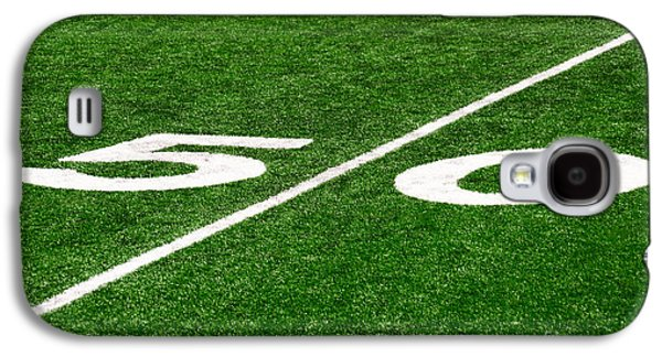 Sports Photographs Galaxy S4 Cases - 50 Yard Line on Football Field Galaxy S4 Case by Paul Velgos