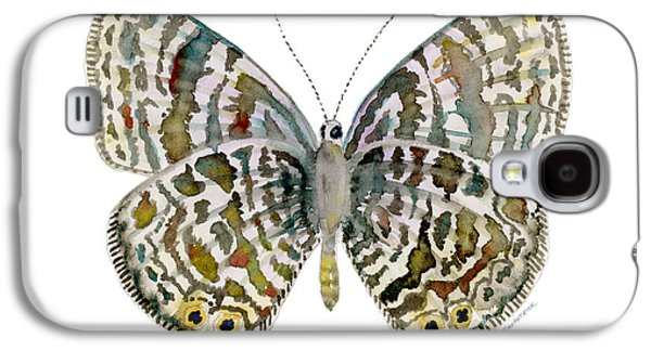 Moth Paintings Galaxy S4 Cases - 51 Langs Short-tailed Blue Butterfly Galaxy S4 Case by Amy Kirkpatrick
