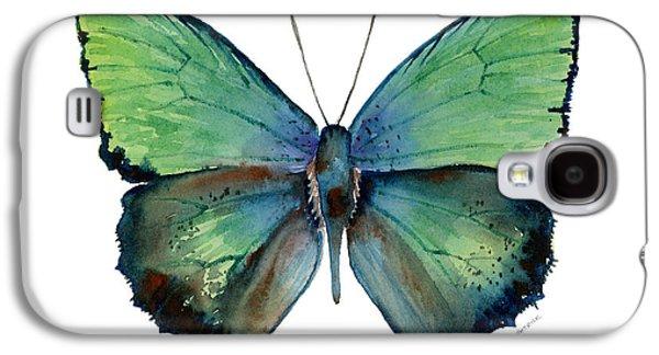 Moth Paintings Galaxy S4 Cases - 52 Arhopala Aurea Butterfly Galaxy S4 Case by Amy Kirkpatrick