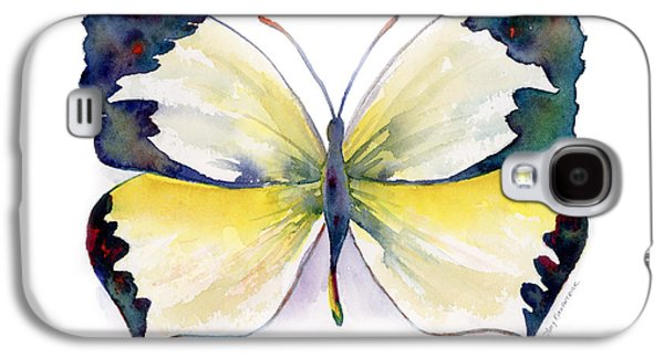 Moth Paintings Galaxy S4 Cases - 55 Mexican Yellow Butterfly Galaxy S4 Case by Amy Kirkpatrick