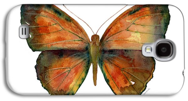 Moth Paintings Galaxy S4 Cases - 56 Copper Jewel Butterfly Galaxy S4 Case by Amy Kirkpatrick