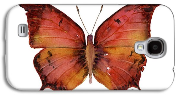 Moth Paintings Galaxy S4 Cases - 58 Andria Butterfly Galaxy S4 Case by Amy Kirkpatrick