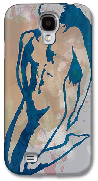 Nudes Mixed Media Galaxy S4 Cases - Nude pop stylised art poster Galaxy S4 Case by Kim Wang