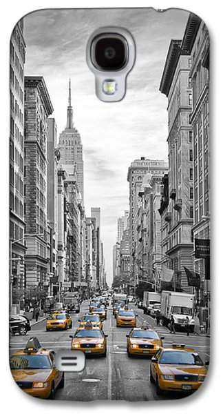 5th Avenue Yellow Cabs Galaxy S4 Case by Melanie Viola