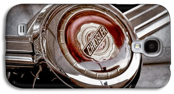 1949 Chrysler Town And Country Convertible Steering Wheel Emblem Galaxy S4 Case by Jill Reger