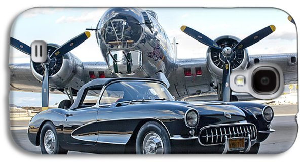 Imagery Galaxy S4 Cases - 1957 Chevrolet Corvette Galaxy S4 Case by Jill Reger