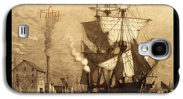 Historic Schooner Galaxy S4 Cases - A Pirate Looks At Fifty Galaxy S4 Case by John Stephens