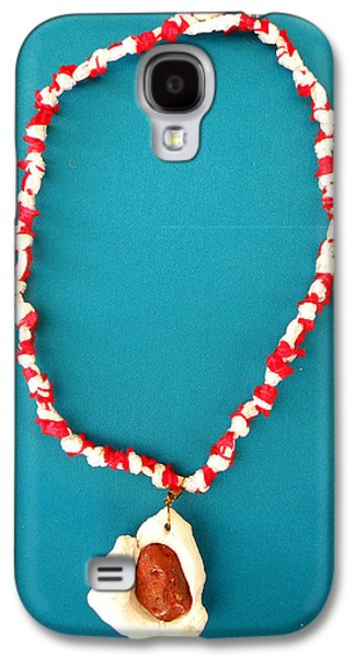 Red Jewelry Galaxy S4 Cases - Aphrodite Gamelioi Necklace Galaxy S4 Case by Augusta Stylianou
