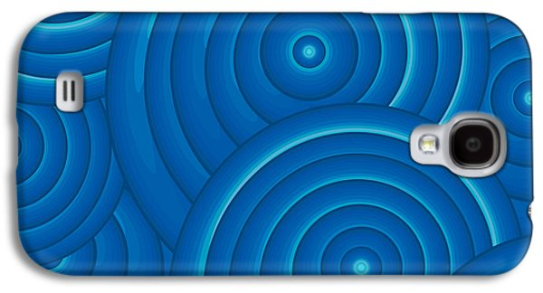 Deep Blue Galaxy S4 Cases - Blue Abstract Galaxy S4 Case by Frank Tschakert