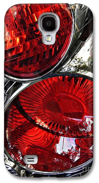 Glass Reflections Galaxy S4 Cases - Brake Light 13 Galaxy S4 Case by Sarah Loft