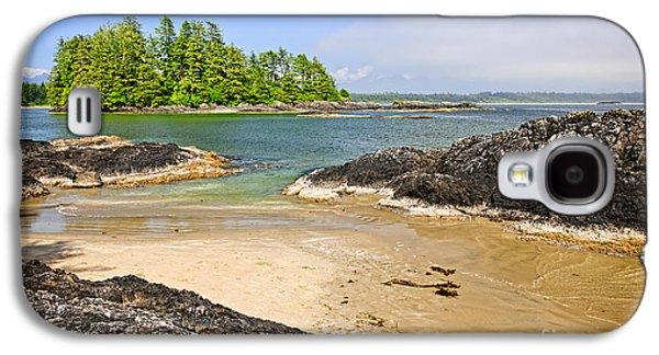 Vancouver Photographs Galaxy S4 Cases - Coast of Pacific ocean on Vancouver Island Galaxy S4 Case by Elena Elisseeva