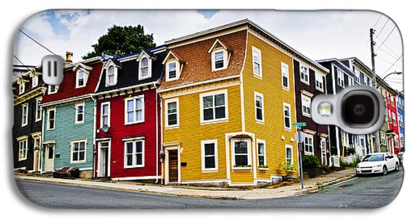 Quaint Photographs Galaxy S4 Cases - Colorful houses in St. Johns Newfoundland Galaxy S4 Case by Elena Elisseeva