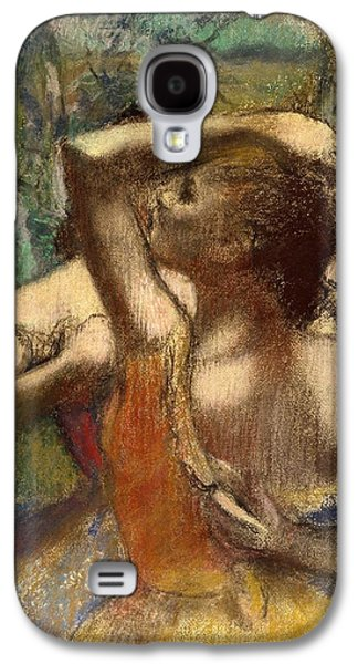 Orange Pastels Galaxy S4 Cases - Dancers Galaxy S4 Case by Edgar Degas