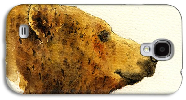 Grizzly Bear Galaxy S4 Case by Juan  Bosco