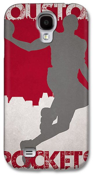 Recently Sold -  - Dunk Galaxy S4 Cases - Houston Rockets Galaxy S4 Case by Joe Hamilton