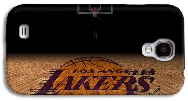 Dunk Galaxy S4 Cases - Los Angeles Lakers Galaxy S4 Case by Joe Hamilton