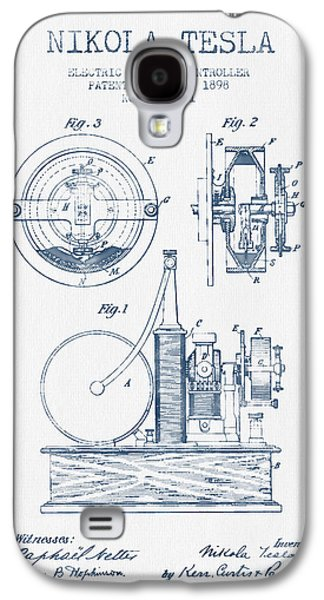 Generators Galaxy S4 Cases - Nikola Tesla Electric Circuit Controller Patent Drawing From 189 Galaxy S4 Case by Aged Pixel