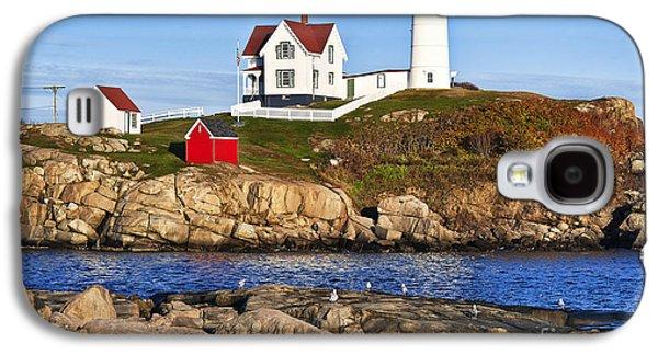 Cape Neddick Lighthouse Galaxy S4 Cases - Nubble Lighthouse Galaxy S4 Case by John Greim